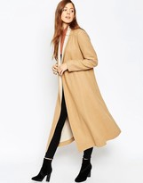 Asos Oversized Coat with Contrast Shawl Collar