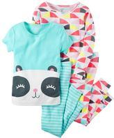 Carter's Girls 4-12 4-pc. Pattern Pajama Set