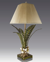 Jay Strongwater Orchid & Leaf Lamp