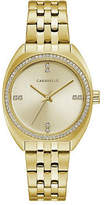 Bulova Caravelle Designed By Womens Gold Tone Stainless Steel Bracelet Watch-44l250, One Size , No Color Family