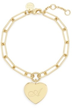 brook & york Isabel Initial Heart Gold-Plated Bracelet