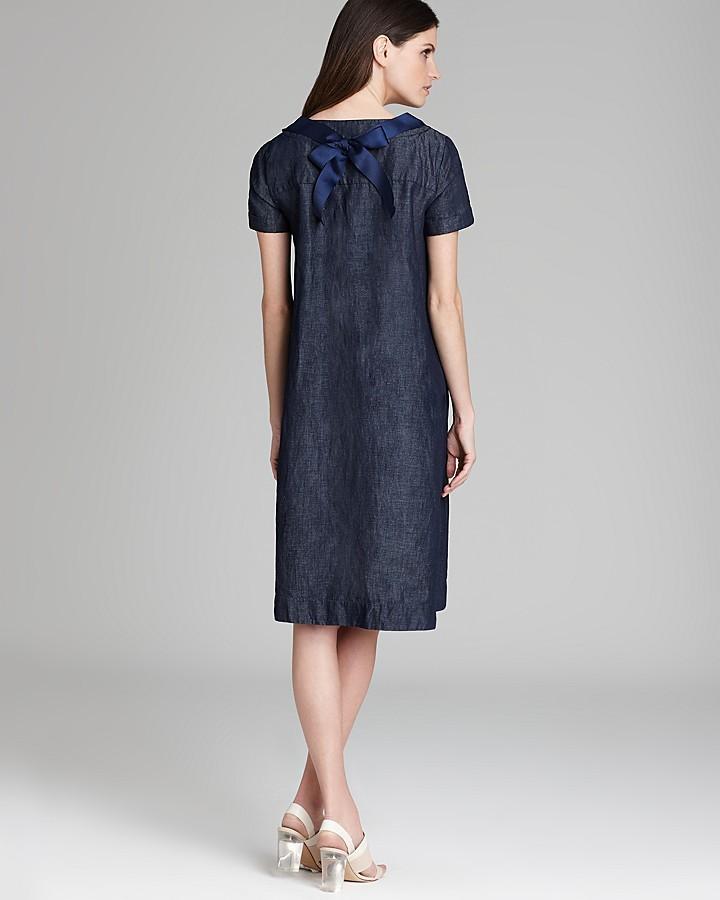 Max Mara Dress - Zogno Denim Short Sleeve A-Line