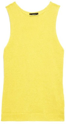 Theory Sleeveless Linen Mix-Media Shell