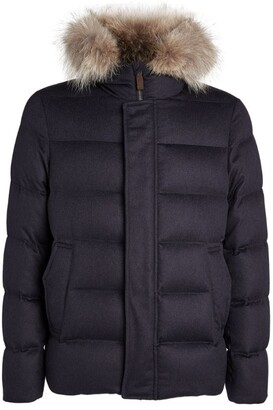 Herno Coyote-Fur Trimmed Padded Jacket