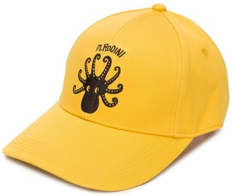 Mini Rodini Octopus embroidered baseball cap