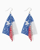 Charming charlie Texas Flag Dangle Earrings