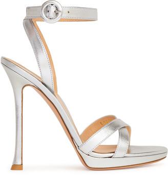 Gianvito Rossi Silver metallic nappa sandals
