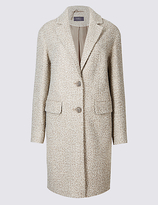 M&S Collection Boucle Textured Coat