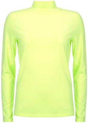 Mint Velvet Neon Yellow Polo Neck Top