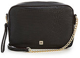 Kate Landry Status Crocodile-Embossed Square Cross-Body Bag