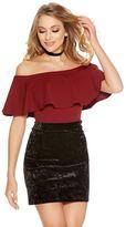 Quiz Black Crushed Velvet High Waist Bodycon Skirt