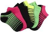 Stride Rite 6 Pack Socks (Toddler/Kid) - Varigated Stripe-7-10 Years