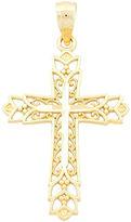 JCPenney FINE JEWELRY 14K Gold Filigree Cross Charm