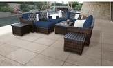 Kathy Ireland Homes & Gardens By Tk Classics Homes & Gardens River Brook 12 Piece Sectional Seating Group Homes & Gardens by TK Classics Cushion Color: Midnight