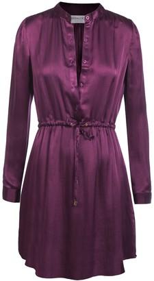 Modallica Viki Violet 100% Organic Gots Certified Silk Mini Dress