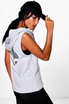 Boohoo Eve Fit Hooded Cut Out Tank Running Sweat