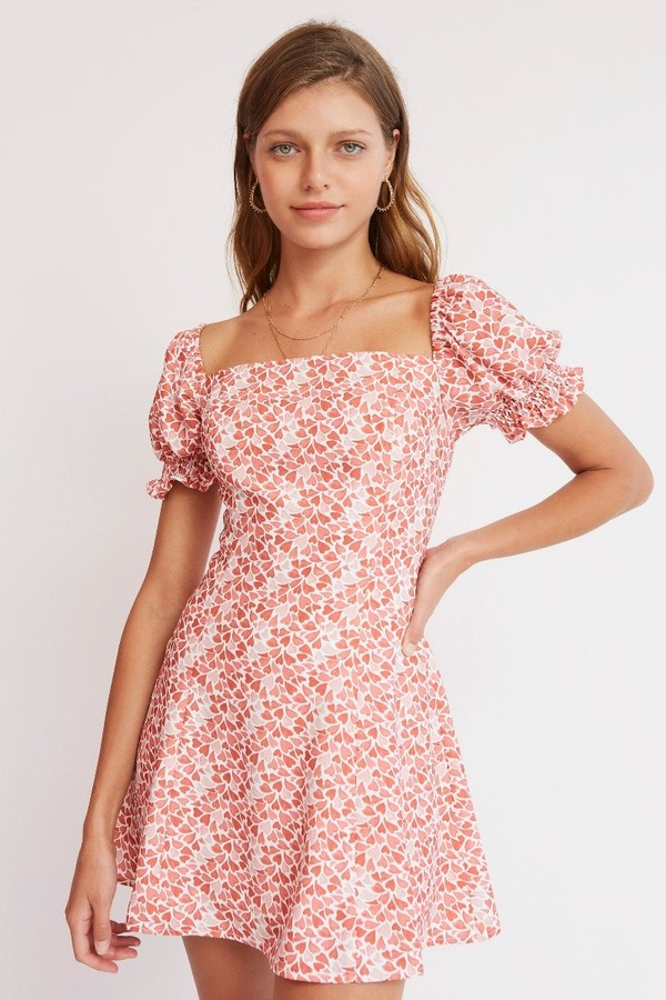 Finders Keepers AMOUR MINI DRESS Ivory Petal