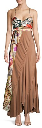 Chloé Mixed-Print Maxi Dress