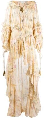 Etro floral print high low dress