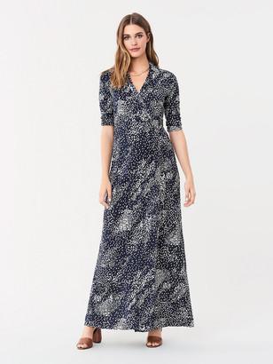 Diane von Furstenberg Abigail Silk-Jersey Maxi Wrap Dress