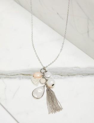 Lane Bryant Bead Cluster & Tassel Necklace