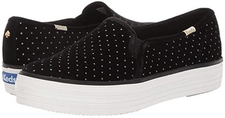 Kate Spade Keds x Triple Decker Glitter (Black Velvet) Women's Shoes