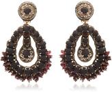 Ranjana Khan Black Drop Earrings