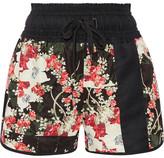 Rag & Bone Lennox Floral-print Satin-twill Shorts - Black