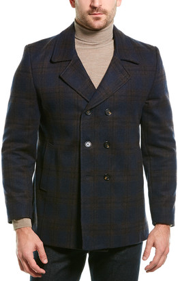 Ron Tomson Wool-Blend Peacoat