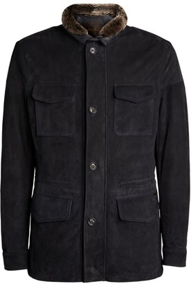 Moorer Suede Field Jacket
