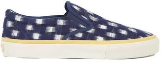 Sebago Universal Works X Jack In Indigo Double Ikat Square Shoes - 42 (8 UK)