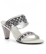 Onex Chess Leather Dress Sandals