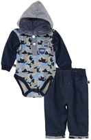 Dog Sport Baby Boys' Army Trucks Camo Hooded Bodysuit 2Pc Pant Set