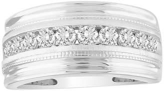 FINE JEWELRY Mens 1 CT. T.W. Genuine White Diamond 10K White Gold Wedding Fashion Ring