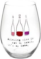 """Bed Bath & Beyond """"Drinking Wine is My Hobby"""" Stemless Wine Glass"""