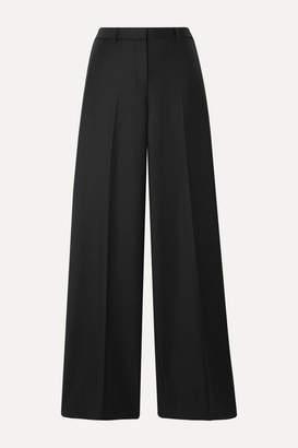 Theory Wool Wide-leg Pants - Black