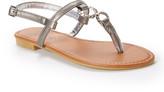Star Bay Women's Sandals Pewter - Pewter Embellished Circle-Accent Sandal - Women
