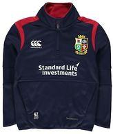 Canterbury of New Zealand Kids Lions Quarter Zip Jacket Junior Performance Fleece Coat Top Long