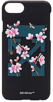 Off-White Cherry Flowers iPhone 7 Case in Black.