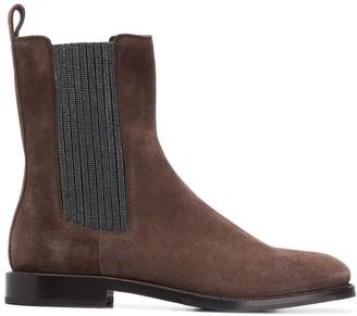 Brunello Cucinelli beaded-side long Chelsea boots