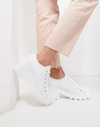 Truffle Collection chunky lace up canvas shoes