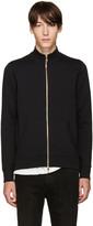 Burberry Black Sheltone Zip-Up Sweater