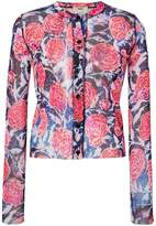 Fuzzi sheer floral blouse