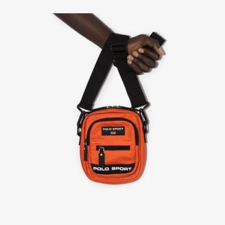 Polo Ralph Lauren orange sport logo messenger bag
