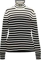 MSGM Striped Wool-blend Sweater - Black