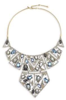 Alexis Bittar Crystal-Encrusted Bib Necklace