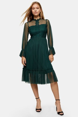 Lace & Beads Womens **Green Sally Midi Dress By Green