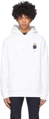 Ralph Lauren Purple Label White Nautical Bear Hoodie