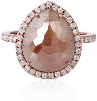 Artisan 18K Rose Gold Ice Diamond Cocktail Ring Jewelry