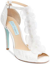 Blue By Betsey Johnson Sadie Tulle Floral Evening Sandals
